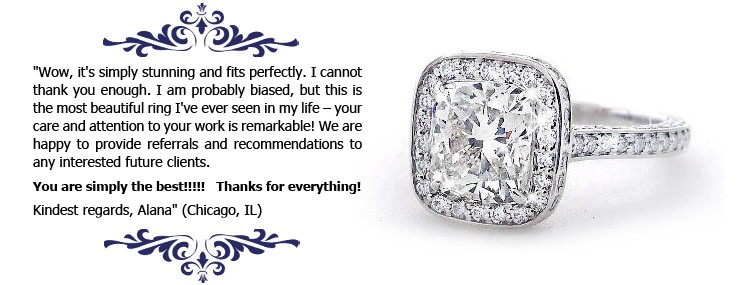 Alana's testimonial - Vanessa Nicole Jewels - Engagement Rings