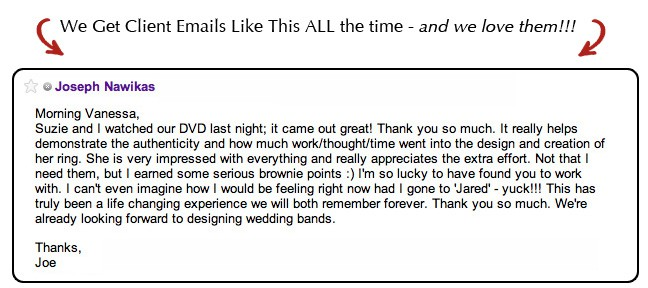Customer Email Review About One of Our Diamond Rings