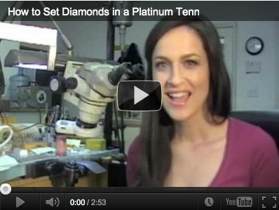 How to set diamonds in a platinum tennis bracelet Vanessa Nicole Jewels Videos