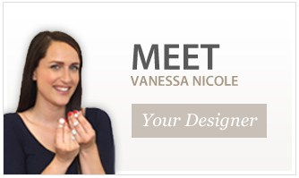 Vanessa Nicole with custom design engagement rings.