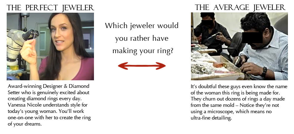 Perfect Jeweler vs. Average Jeweler Engagement Rings