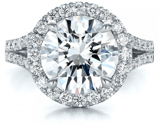 Round Halo Engagement Ring- Vanessa Nicole Jewels