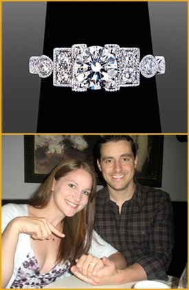 Evan & Kate Scalzo Couple With One of The Diamond Rings