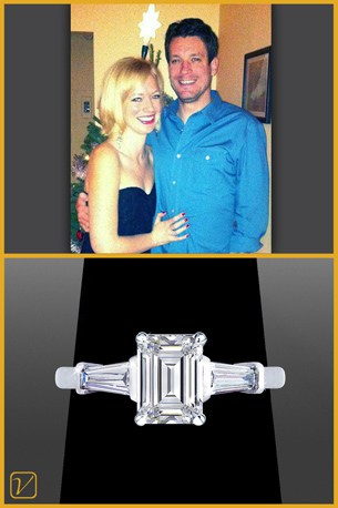 Emerald Cut Engagement Ring - Vanessa Nicole Jewels