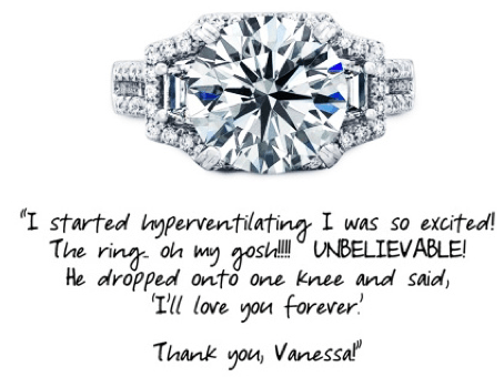 Beautiful Engagement Ring With Bride's Customer Review | Jewelry Stores