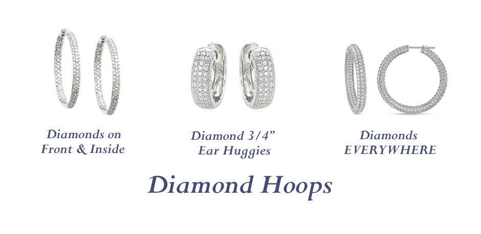 DIAMOND HOOPS - Vanessa Nicole Jewels - Anniversary Gifts