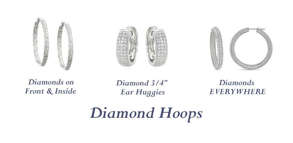DIAMOND HOOPS - Vanessa Nicole Jewels