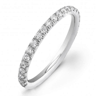 diamonds on top of wedding band