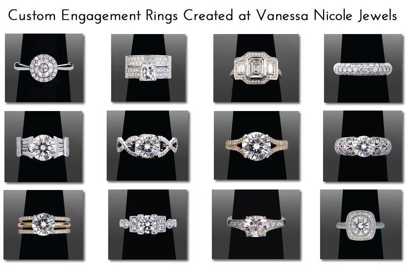 Custom Engagement Rings Created at Vanessa Nicole Jewels