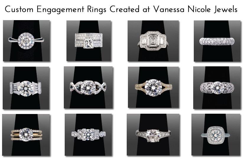Custom Engagement Rings Created at Vanessa Nicole Jewels
