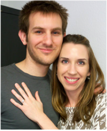 Recently Engaged Couple Showing Their Custom Engagement Ring