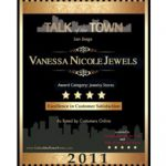 "Vanessa Nicole Jewels Receives ""Talk of the Town"" Award"
