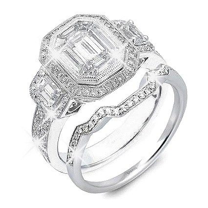 Emerald Cut With Matching Wedding Rings - Kim Kardashian Wedding Rings