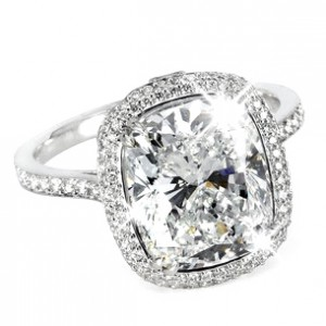 Cushion Diamond Wedding Rings