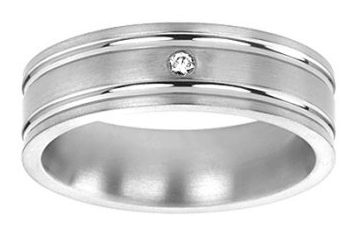 Men's wedding rings with a diamond