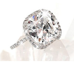 Gorgeous Cushion Cut Halo Diamond Ring