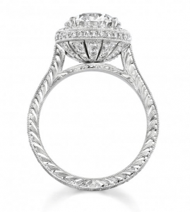 Engraving Example - Antique Engagement Rings