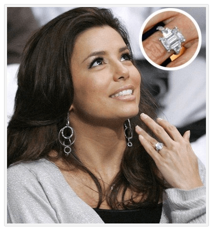 Eva Longoria - Antique Engagement Rings