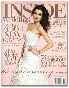 Inside Weddings Magazine – Vanessa Nicole Jewels