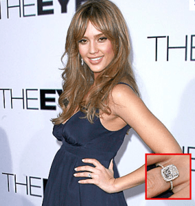 Jessica Alba   Antique Engagement Rings