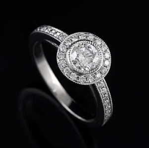 Milgrain example - Antique Looking Engagement Rings