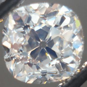 Old Mine Cut Diamond 300x298 Antique Engagement Rings