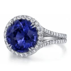 blue sapphire - custom engagement rings