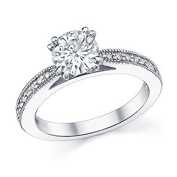 milgrain Antique Engagement Rings