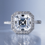 Asscher Cut | Top of Ring Laying Down | Diamond Rings Settings