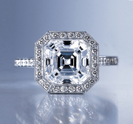 Asscher Cut | Top of Ring Laying Down | Diamond Ring Settings