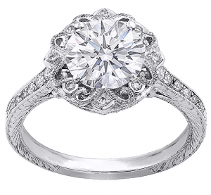 Elegant Diamond Ring Band Side View