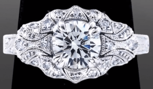 Vanessa Nicole's Unique Engagement Ring - Art Deco Antique Engagement Rings