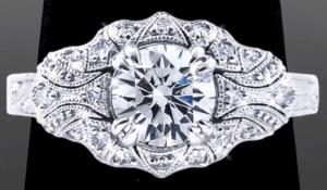 Vanessa Nicole's Unique Antique Engagement Ring