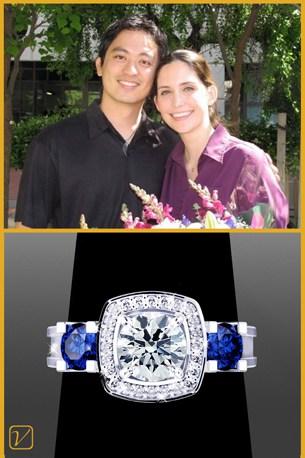 Allison & Tk - Blue Sapphire Engagement Ring - Testimonials