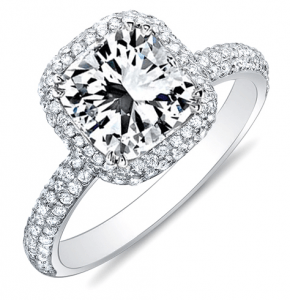 Micro Pave Engagement Rings - Vanessa Nicole Jewels