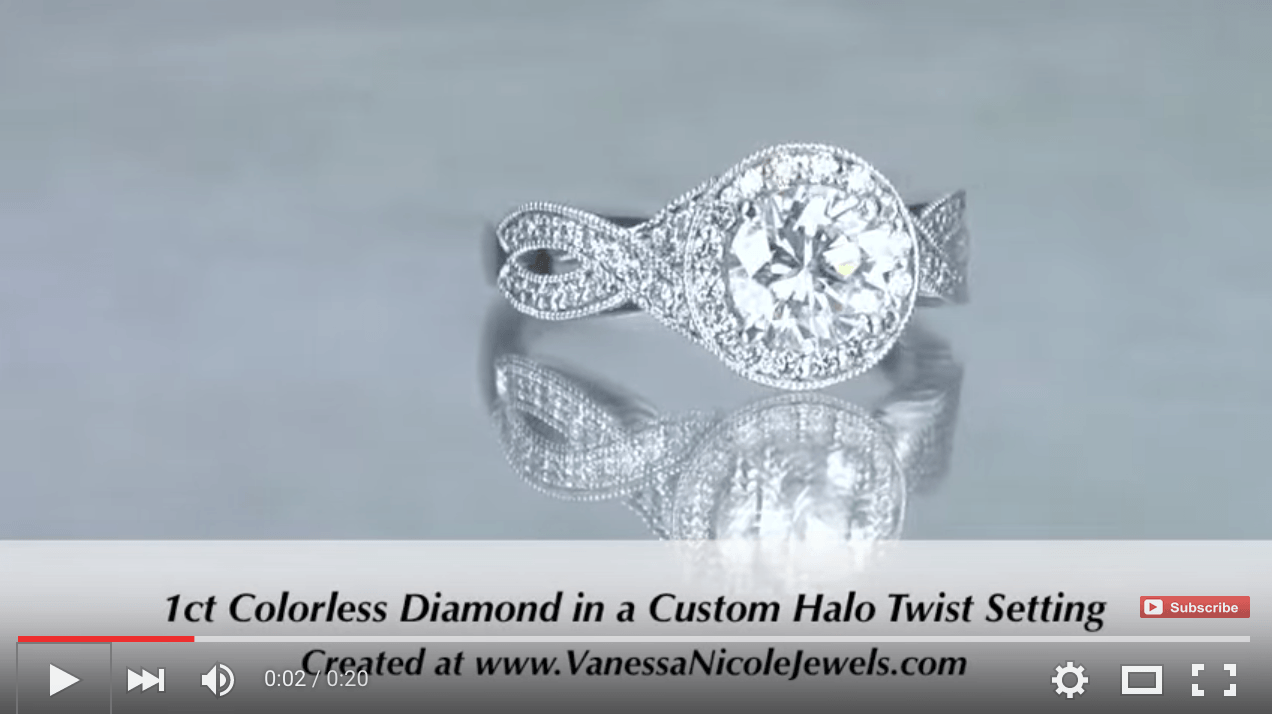 1ct Twist Engagement Ring With Milgrain for Teryn & Jay