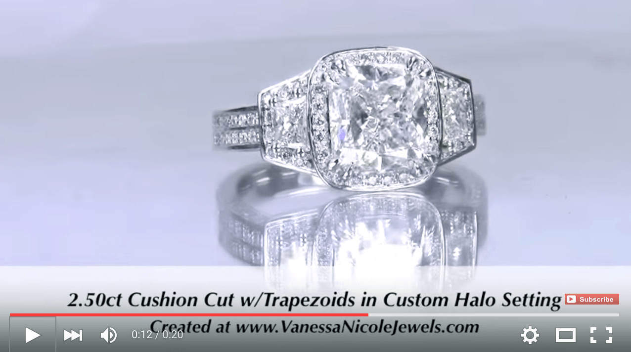 2.50ct Cushion Cut & Trapezoids for Myong & Bryan