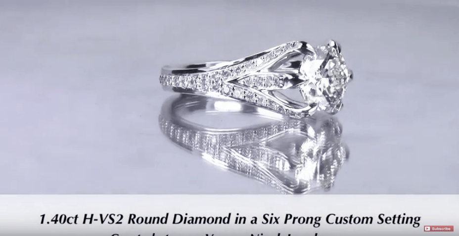 1.40ct 6 prong Diamond Engagement Ring