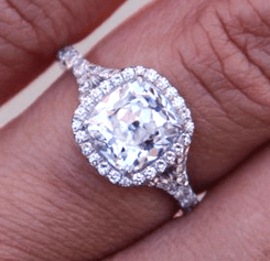 clean diamond Engagement Ring