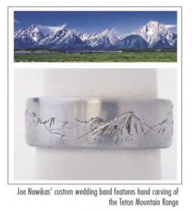 Teton Mountain Range Ring Engrave