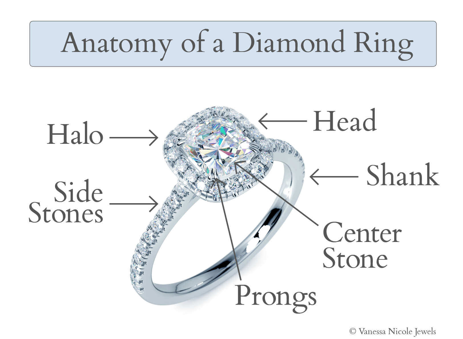 Anatomy Of A Diamond Ring Vanessa Nicole Jewels