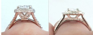 Tall vs. low custom ring - Vanessa Nicole Jewels
