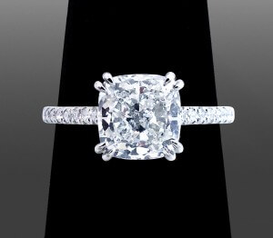 Cushion Cut Solitaire - Vanessa Nicole Jewels - Engagement Ring Jewelers