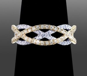 Over-Under Style Diamond Ring