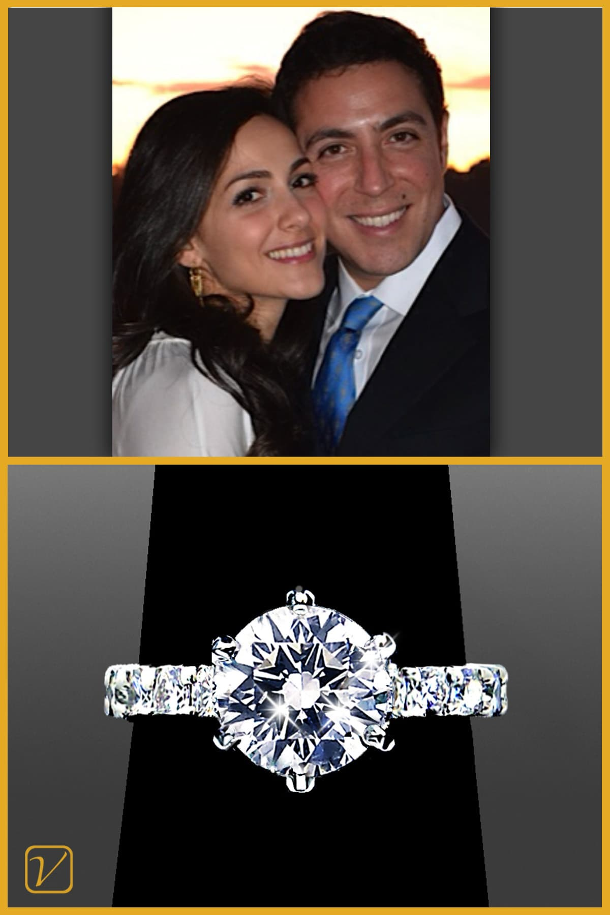 Danny & Carla - Solitaire Engagement Ring - Vanessa Nicole Jewels - Testimonials