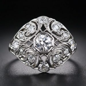 Engagement Ring with Platinum