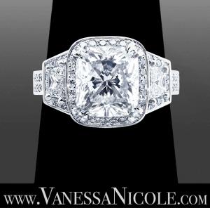 Cushion Cut Diamond Ring Example