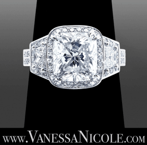 Cushion Cut Diamond Ring Example