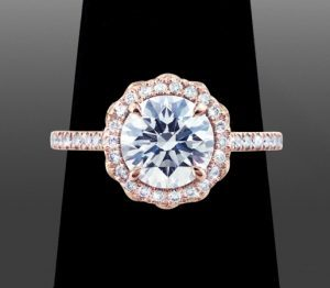 Rose Gold Metal For Diamond Ring