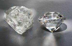 Rough vs. Smooth Diamond